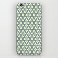 Grey Graphic Flower iPhone & iPod Skin