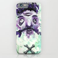 iPhone & iPod Case featuring Bones crossed by Crooked Octopus