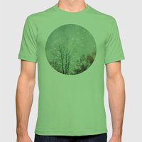 First Snowfall  Mens Fitted Tee Grass SMALL