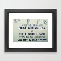 Bruce Springsteen & the E Street Band: Rain or Shine Framed Art Print