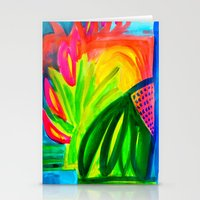 Tropical Abstract I - Painting Stationery Cards
