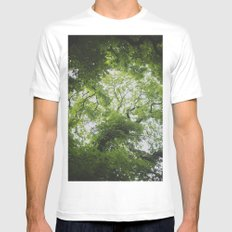 Up in the Trees Above Mens Fitted Tee White SMALL