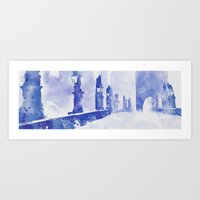 Charles bridge (Prague) Art Print