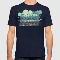 Beach Rounds Mens Fitted Tee Navy SMALL