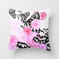 Camellia Blush Throw Pillow
