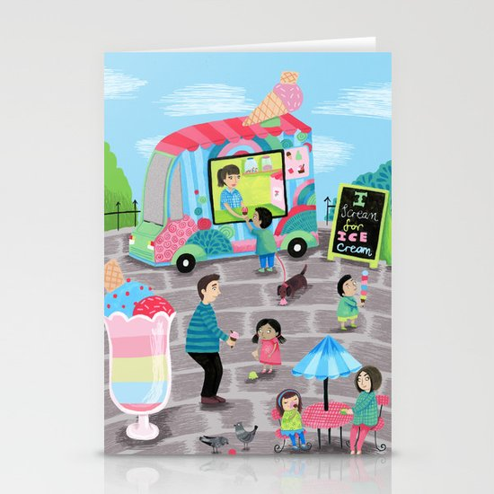 I Scream for Ice Cream Stationery Card