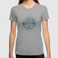 Little Fishes Womens Fitted Tee Athletic Grey SMALL