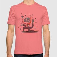 Crazy Alien Mens Fitted Tee Pomegranate SMALL