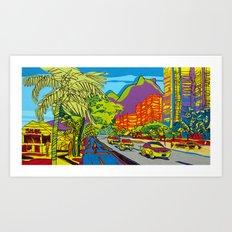 Pedra da Gávea hill - São Conrado - Rio de Janeiro Art Print