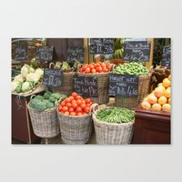 City Market Canvas Print