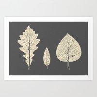 Tree-leaf Art Print