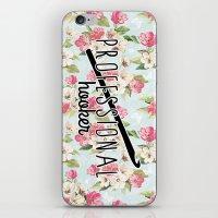 funny crochet vintage floral professional hooker iPhone & iPod Skin