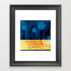 The Three Trees - a48b Framed Art Print
