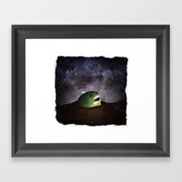Asomandose Al Espacio Framed Art Print
