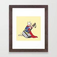 The Catty Thor Framed Art Print