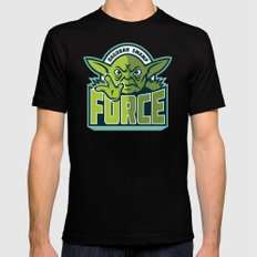 Dagobah Swamp Force - Teal Black Mens Fitted Tee SMALL