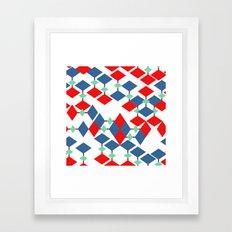geometric number 5 Framed Art Print