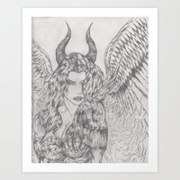 angel or demon Art Print