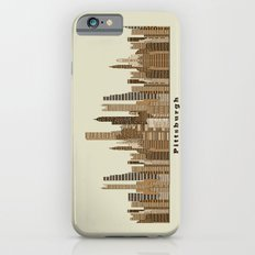 Pittsburgh skyline vintage iPhone 6s Slim Case