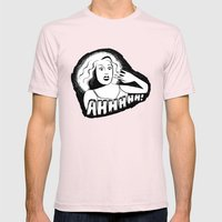 Classic horror movie scream Mens Fitted Tee Light Pink SMALL