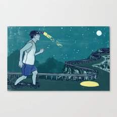 Late Night Relay Canvas Print