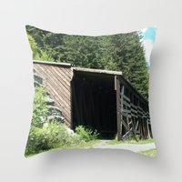 Snow Shed Throw Pillow