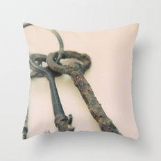 Skeleton Keys Throw Pillow