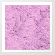 Art Print featuring Very Thick Painted, Pink by MehrFarbeimLeben