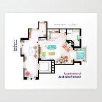 Jack MacFarland's Apartm… Art Print