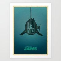 Steven Spielberg's JAWS Art Print