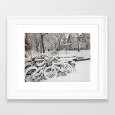 Let's Snow! Framed Art Print