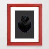 Paint the Black Hole Blacker Framed Art Print