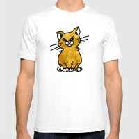 Grumpy Cat - Sketch To D… Mens Fitted Tee White SMALL
