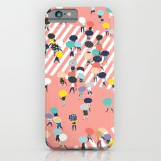 Crossing The Street On a Rainy Day iPhone 6 Slim Case