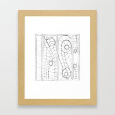 Original Sketch Series - Erosion Patterning Framed Art Print