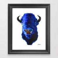 Blue Buffalo Framed Art Print