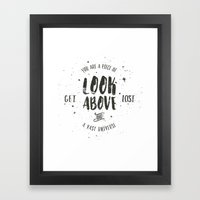 Look Above and Get Lost Art Print Framed Art Print
