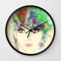 Nouveau Girl 4 Alt Wall Clock