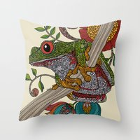 Phileus Frog Throw Pillow