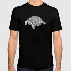Little tortoise Black Mens Fitted Tee SMALL