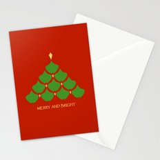 Merry and Bright Ginkgo Christmas Tree Stationery Cards