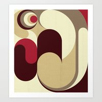 5 Colors Composition (#1… Art Print