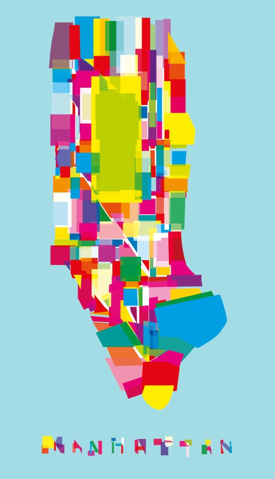 Manhattan Fragments Art Print