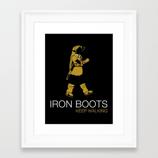 Iron Boots Framed Art Print