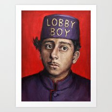 Lobby Boy / Grand Budapest Hotel / Wes Anderson Art Print