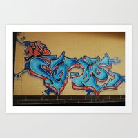 Blue & Yellow Art Print