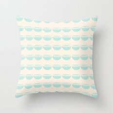 half moons Throw Pillow