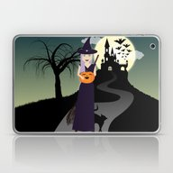 Laptop & iPad Skin featuring Cute Halloween Witch Wit… by PLdesign