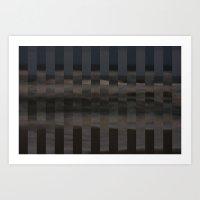 Ocean Collage, Stripes Art Print