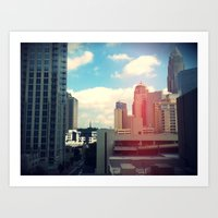 Looking Over The City. Art Print